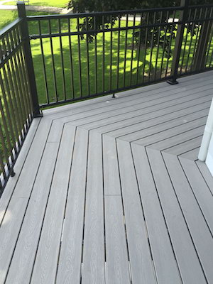 Backyard deck installation in Wood Dale