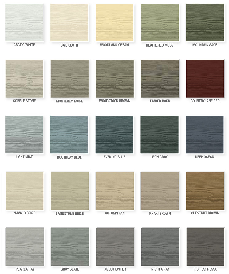Fiber Cement Board Colors : Fiber cement siding installation in spokane inland northwest