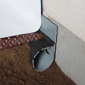crawl space drainage system and pipe