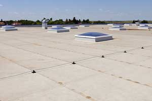 Flat roof on commercial building in Brooksville
