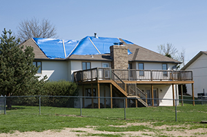 Hurricane roof damage in Shawnee