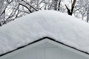 Snow Buildup on Roof