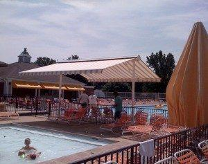 awnings for communial pool