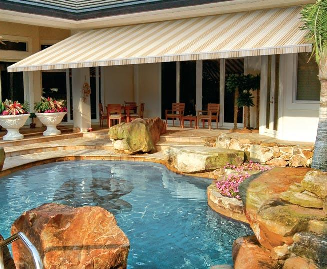 retractable pool deck awning New Jersey