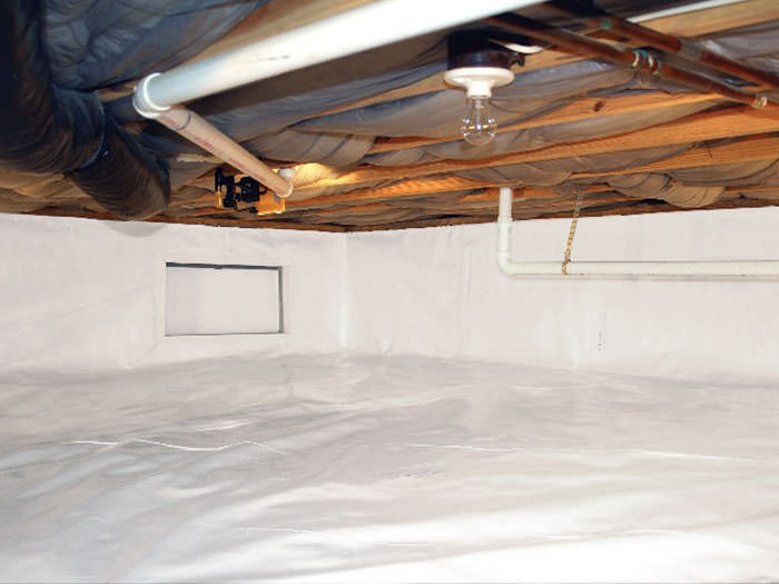Complete CleanSpace crawl space encapsulation and vapor in Buffalo, NY. barrier