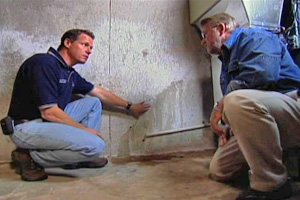Wet Basement Inspection for Leaks