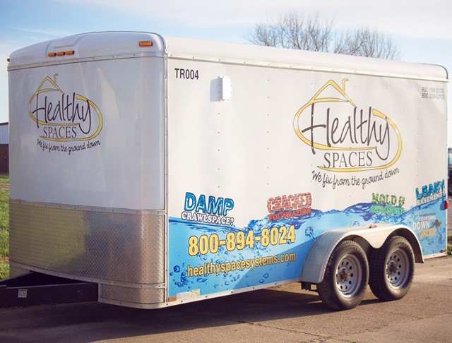 Healthy Spaces Waterproofing Trailer