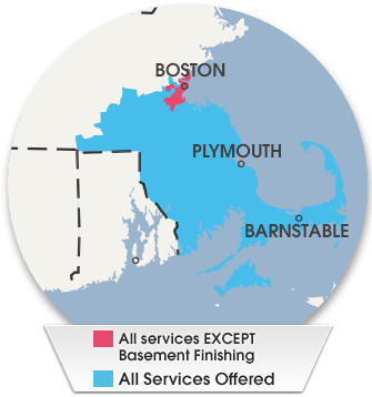 Massachusetts Service Area For Basement And Crawl Space
