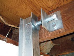 Wall Brace Installed in Maryville