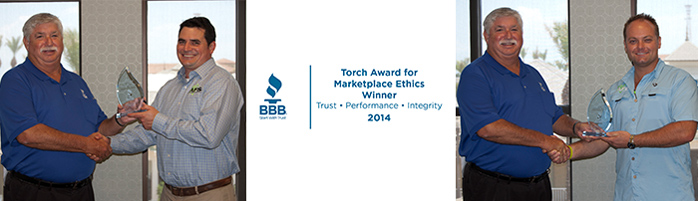 Alpha won the BBB Torch Award for Marketplace Ethics & the 2014 BBB Customer Service Excellence Award