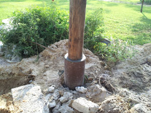 Timber pile repair in northern florida concrete pilings for Concrete pilings for house