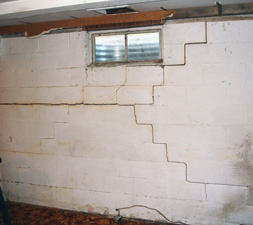 Block Walls Cracked