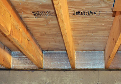 Rigid Foam For The Rim Joist To Seal Insulate Silverglo Insulation Is Cut Fit Between Joists Then Edges Gaps And