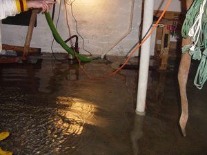 Preventing basement flooding with battery backup sump pump