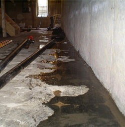 Water on basement floor