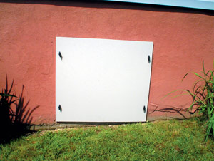 CleanSpace® Crawl Space Vent Cover Installed