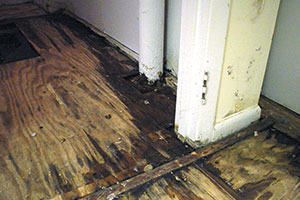 Bat Floor Damaged By Moisture