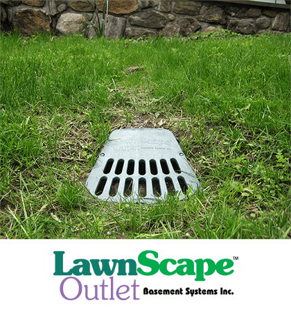 LawnScape™ downspout drainage lawn outlet