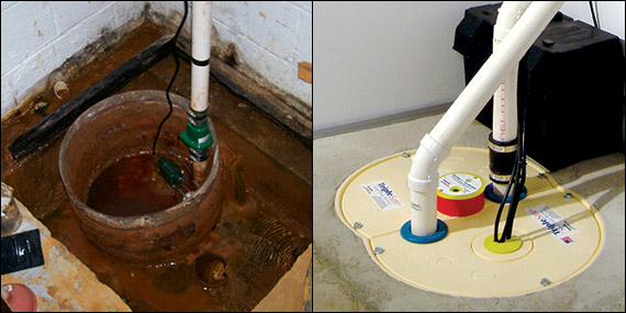 Merveilleux Sump Pump Before And After