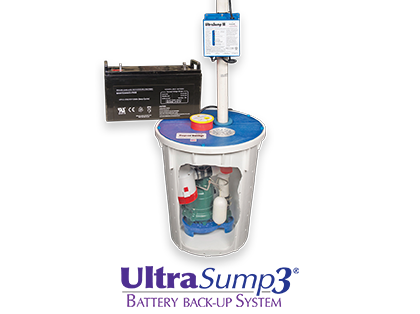 UltraSump® battery back-up sump pump system