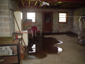 Water In Basement What To Do When Your Basement Leaks After Rain - Flooring options for basements that get water