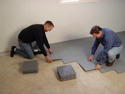 Basement floor matting