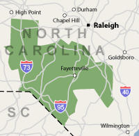 Our North Carolina Service Area