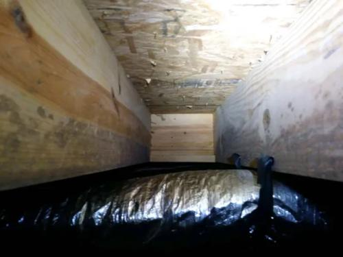 Before Crawl Space Moisture Protection
