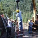 Helical Piles installation in Aspen, Colorado