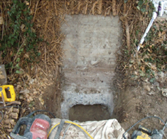 Retaining Structure for Push Pier