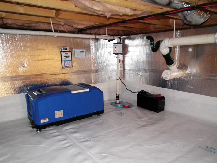 A Crawl E Vapor Barrier And Insulation System Installed In Home Sault Ste Marie