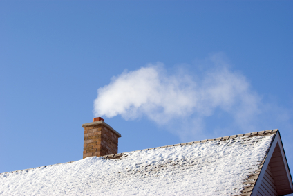 [chimney in the snow]