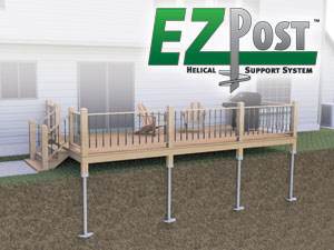 Helical Deck Piers Installed In Council Bluffs