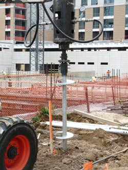 Commercial Helical Piering Project in Omaha, NE