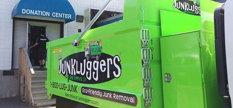 In the early days, The Junkluggers relied on a single truck, painted bright green:...