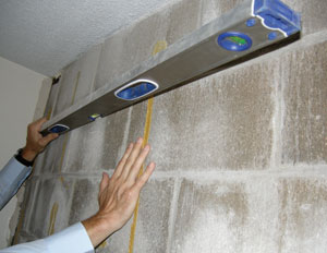 Measuring a buckling wall in a Westminster Basement