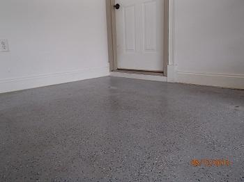 Sunken garage floor raised with PolyLevel®