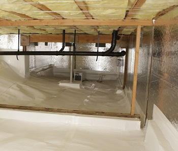 Crawl space Dehumidifier completes the CleanSpace system