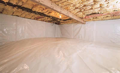 encapsulate wet crawl space