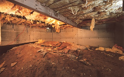 Crawl Space Repair Before in Naples