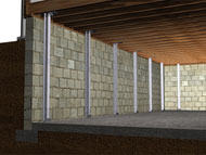reinforced foundation walls in Rockford, Illinois