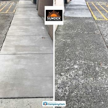 SUNDEK sidewalk resurfacing before and after