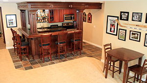 Bar In A Troy Finished Basement