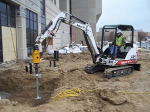 Commercial Helical Pile Installation in Quincy, Illinois