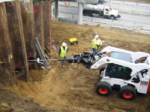 Commercial Helical Anchor Installation in Concord, North Carolina
