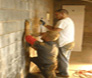 Wall anchor installation in Troutman, North Carolina