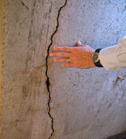 foundation wall crack in Goderich