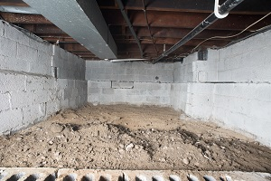 Before view of dirt Crawl Space in Los Angeles