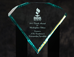 AFS Foundation & Waterproofing Specialists awarded the BBB 2013 Torch Award for Marketplace Ethics