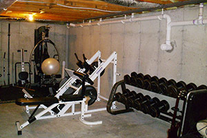 BEFORE: This Home Gym Was Not Exactly A Great Place To Begin The Day.